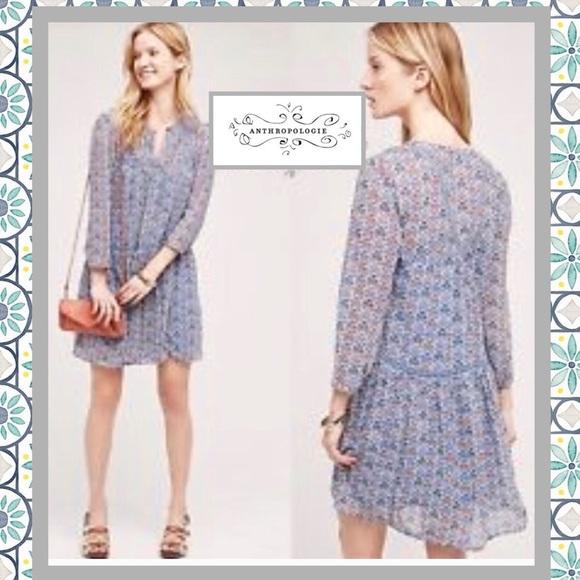2915bdb8b1f5 Anthropologie Dresses | Holding Horses Blue Tunic Dress 14 | Poshmark